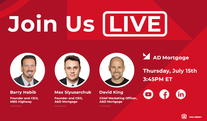 Livestream with Barry Habib & A&D Mortgage CEO Max Slyusarchuk
